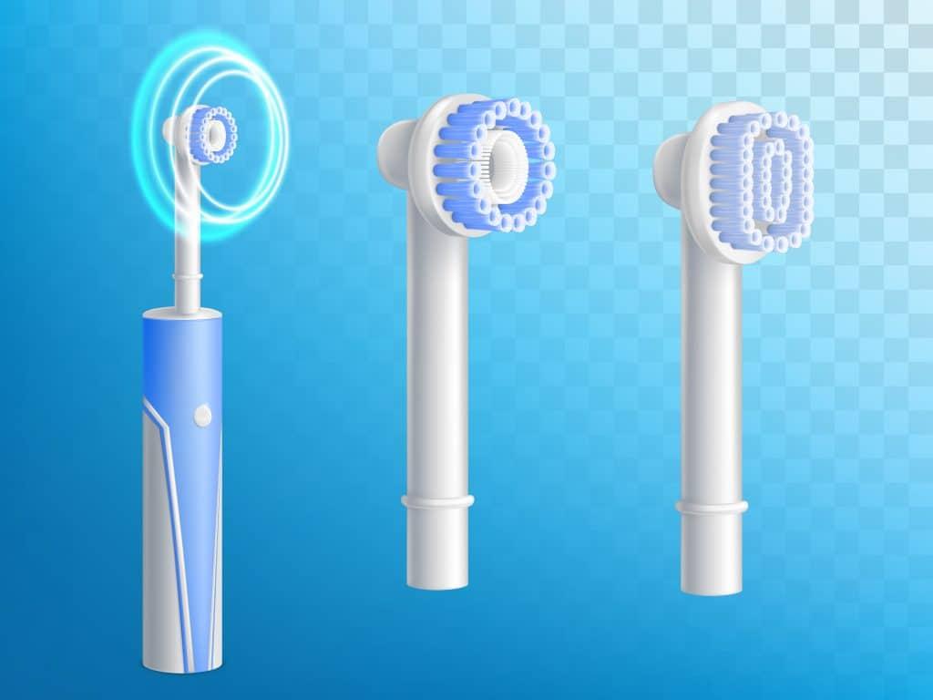 Immagine di testine di spazzolino elettrico per aiutare a contrastare i colletti scoperti